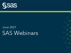 SAS Webinars in June 2021