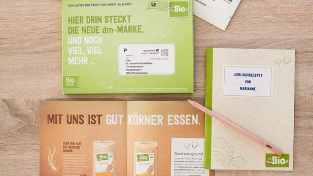 Bio bei dm? Logisch! Mehrstufige Dialog- und POS-Kampagne zum Relaunch der neuen Lebensmittel-Marke.