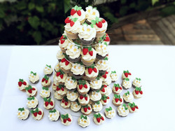 strawberries and blossom cupcakes