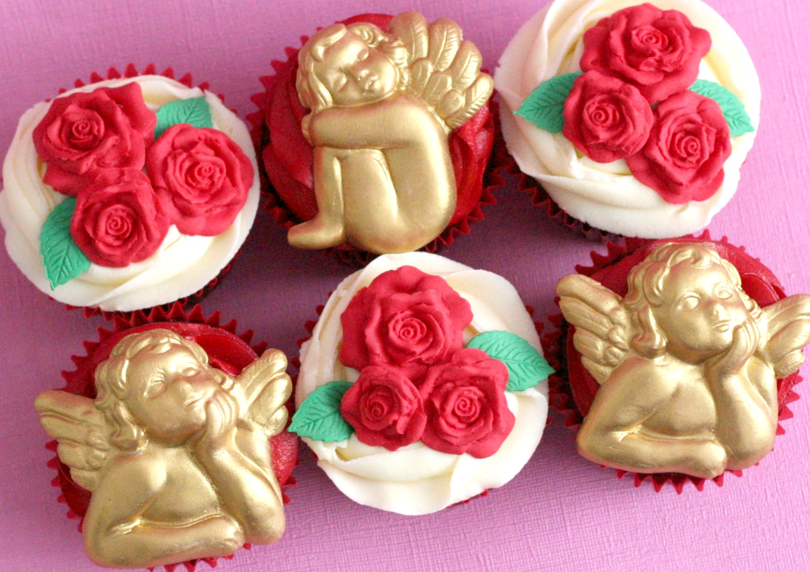 Valentines cherub and roses