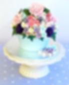 giant cupcake bouquet, flower celebration cake,  www.cupcakemama.co.uk