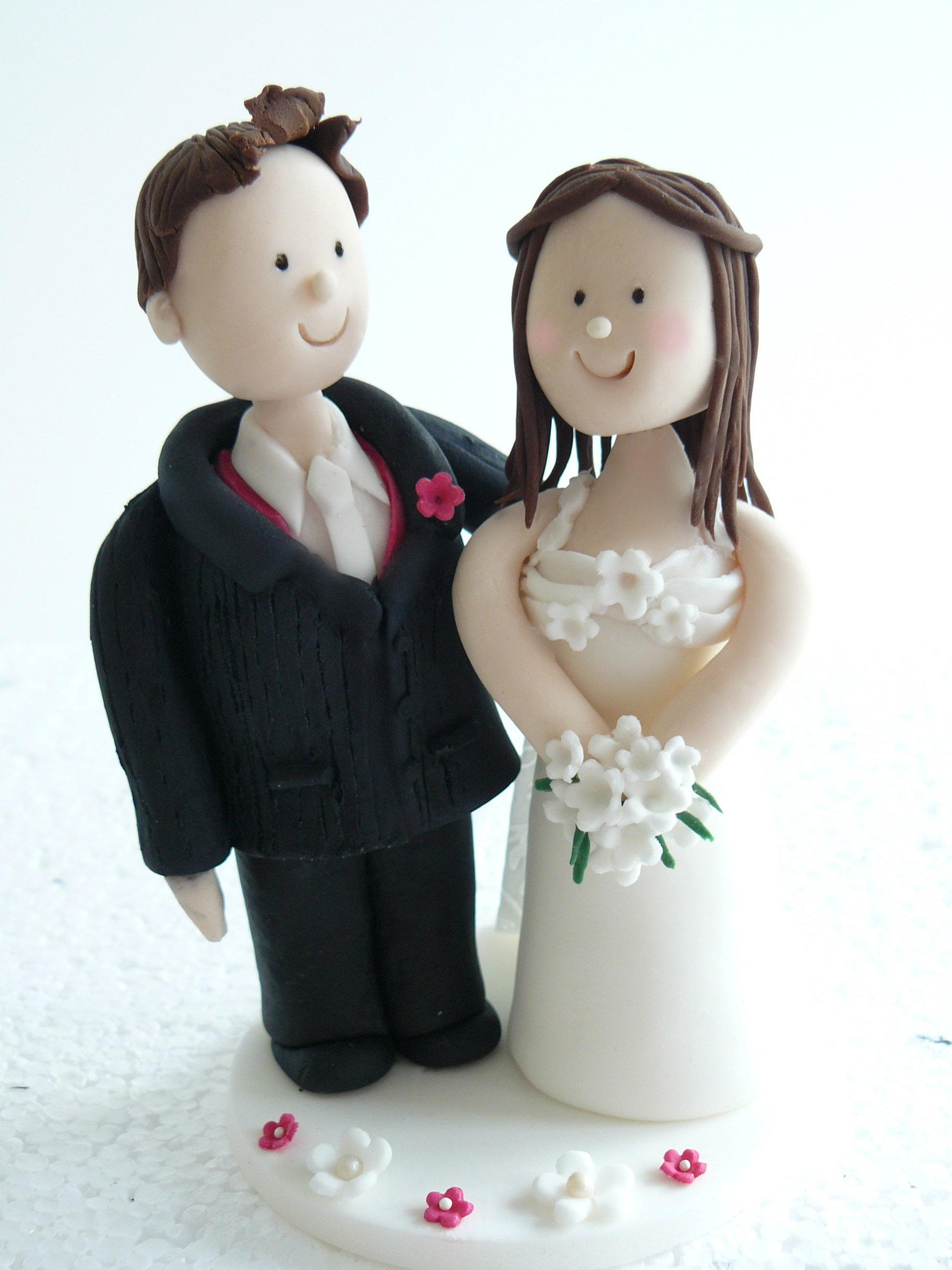 Ribbon Wedding Cake Toppers