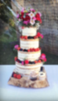3 tier swiss dot and fresh flower wedding cake,  www.cupcakemama.co.uk