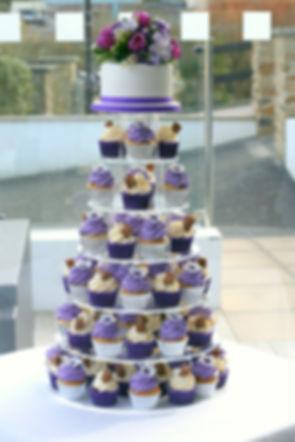 Wedding cupcakes, Wedding cupcake tower, Purple themed cupcakes, www.cupcakemama.co.uk