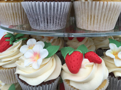 Strawberry and Blossom cupcakes