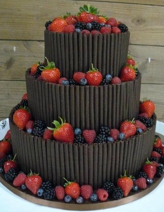 3 Tier chocolate wedding cake