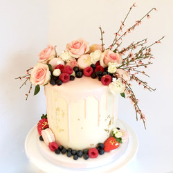 Chocolate drip cake, elegant birthda