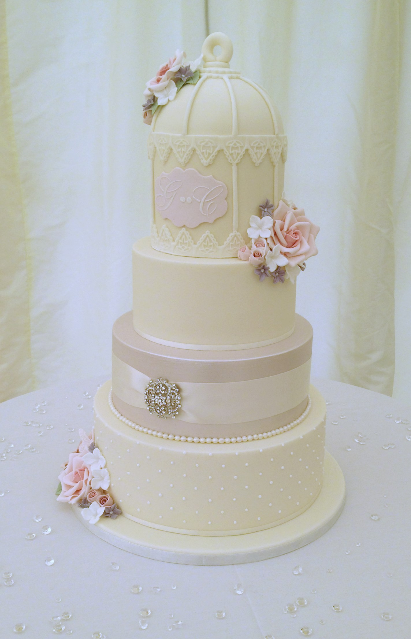 4 Tier Bird Cage Wedding Cake