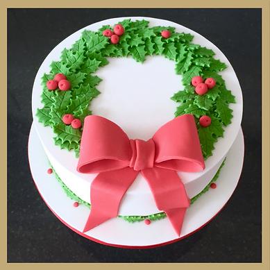 Christmas cake decorating class