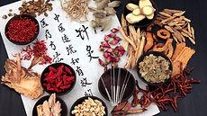 Chinese herbs, needles, calligraphy.jpg
