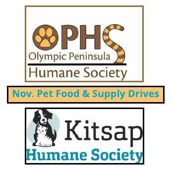Pet Food & Supply Drives for Humane Society in November