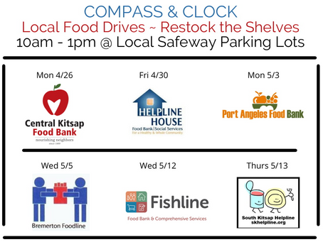 Upcoming Local Food Drives in the Westsound