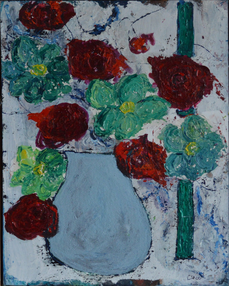 Red and Green Flowers 2021