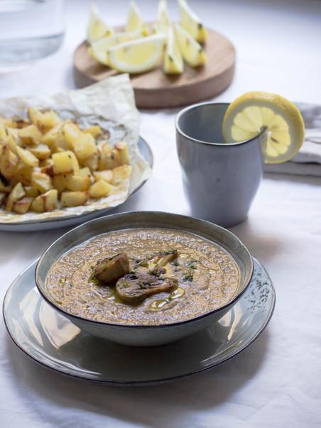 sopa de champiñones & especias