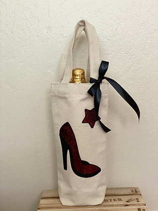 Wine Bag-Sequins Red Heel