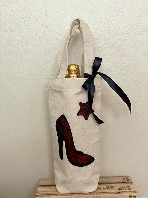 Wine Bag-Sequins Red Heel