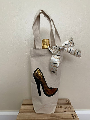 Wine Bag-Sequins Gold Heel