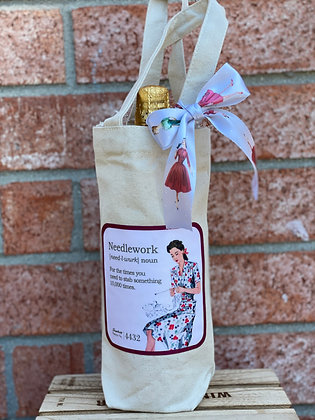 Wine Bag- Needlework- For the times you need to stab something 10,000 times.
