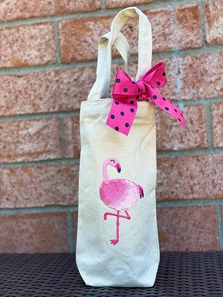 Wine Bag- Flamingo