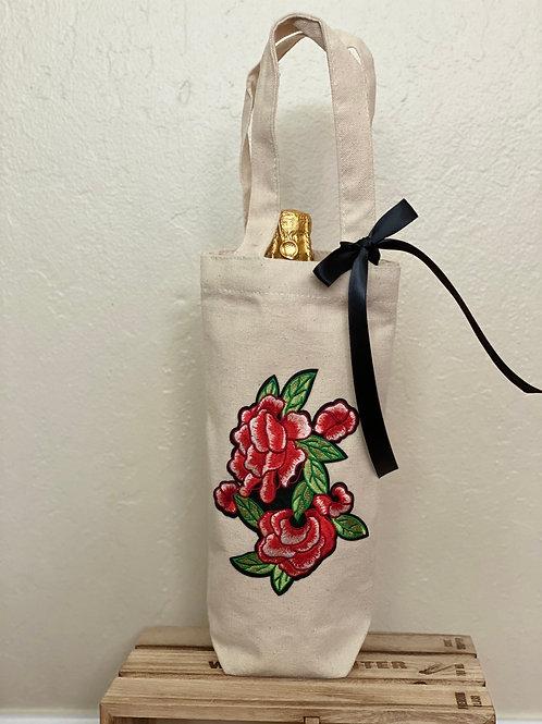Wine Bag-Red Roses