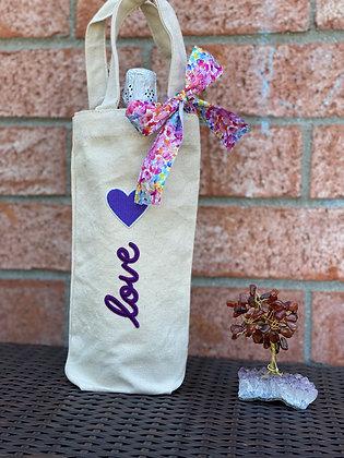 Wine Bag-Purple Love