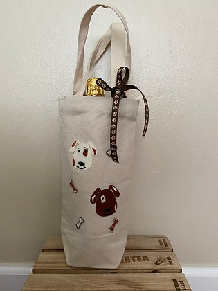 Wine Bag-  Cute Dogs