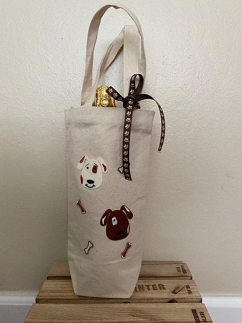 Wine Bag-  Cute Dogs