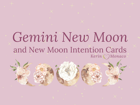 Gemini New Moon and Intention Cards