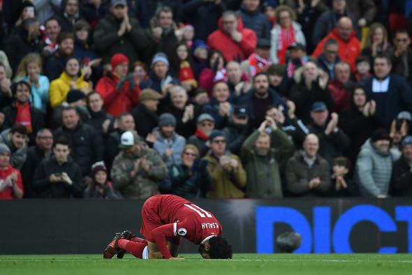El tributo egipcio en Anfield