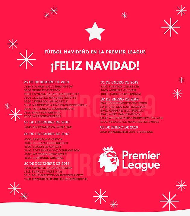 Premier League Calendario.Futbol Navideno En La Premier League Calendario De Partidos