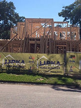 custom home framing build on your lot in Houston