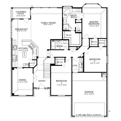 floor plans one story house 3 bedroom 2 bath