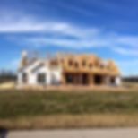 farmhouse being framed on customer's land in Greater Houston