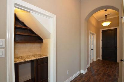 wine cellar bar Lipka custom home builders Houston