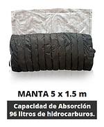 Manta capacidad de absorción 12litros de hidrocarburo por m2