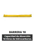 Barrera 18 con agarre. Capacidad de absorción 18litros. 100% turba sphagnum. 6/8% de humedad