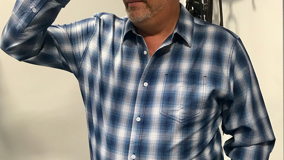 Blue Checked Shirt by Gibson