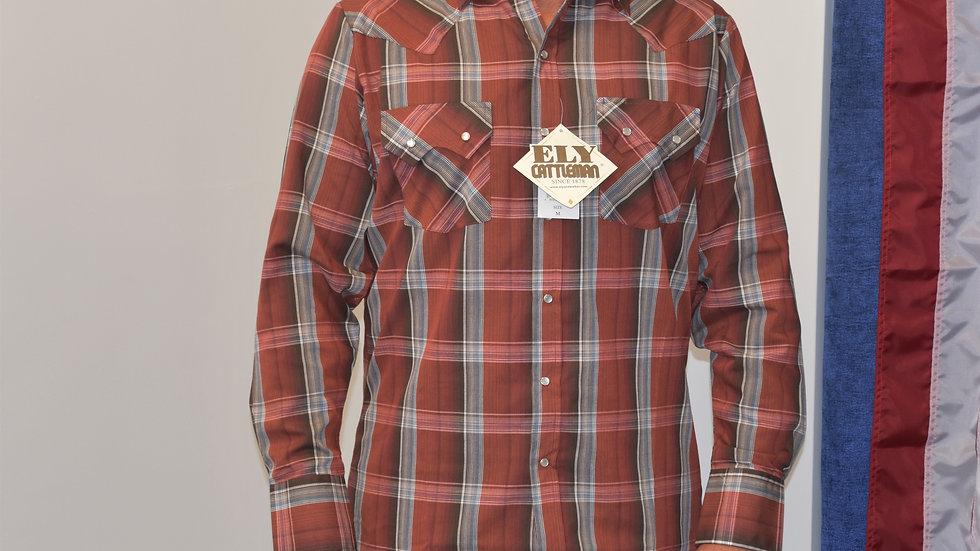 Cattleman Dress Shirt Burnt Copper Plaid