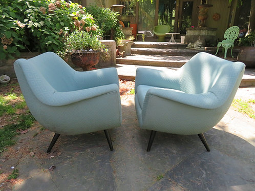 Gorgeous Pair of Lawrence Peabody Barrel Back Tub Chairs,