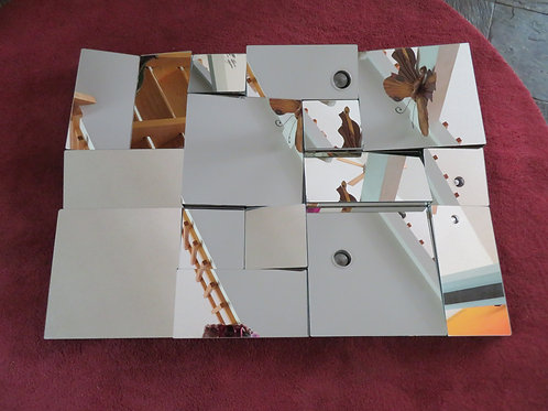 Fabulous Original Slopes Cubist Mirror by Neal Small