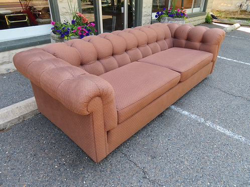 Handsome Mid-Century Modern Dunbar Style Chesterfield Tufted Sofa