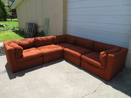 Lovely Five-Piece Signed Milo Baughman Sofa Sectional