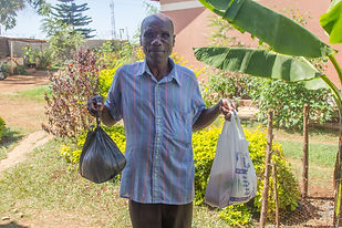 Bonny's Grandfather collecting his food donations