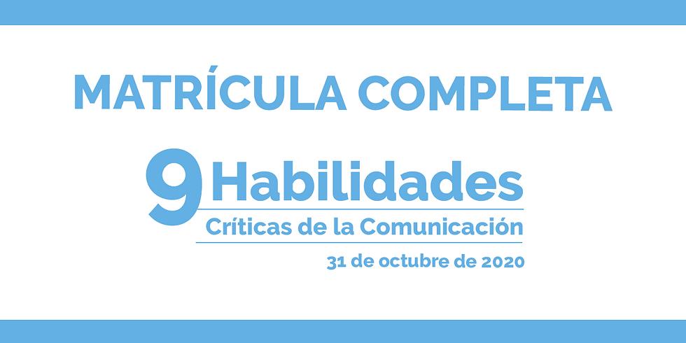 REGISTRO - MATRICULA COMPLETA - 9 Habilidades