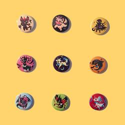 Mystical Bestiary Pins