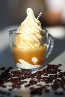 treats frozen yogurt, affogato