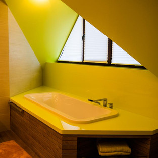 Оформление ванны в цвете лайм