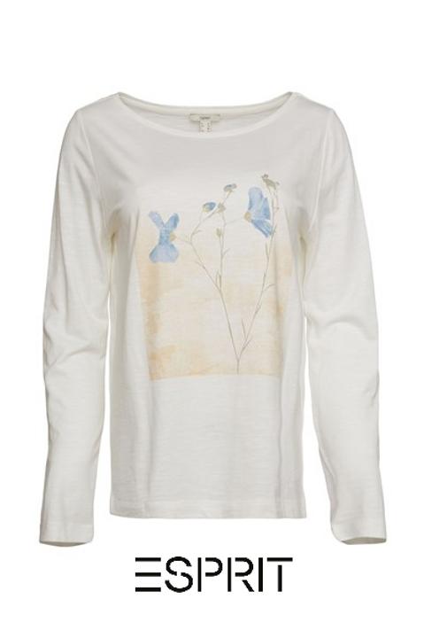 Langarm Shirt creme white