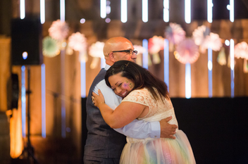 Bride and her father share a dance together