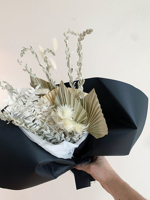 Dried Floral Bouquet with palm spear and sage